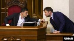 Президент Володимир Зеленський і голова Офісу президента Андрій Богдан, 29 серпня 2019 року