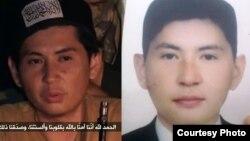 """Слева - один из героев видеоролика о """"казахских джихадистах в Сирии"""", справа - фото Аманжола Жансенгирова, предоставленное Азаттыку его родственниками."""