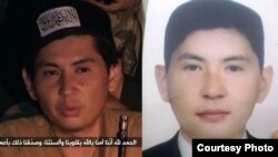 Amanzhol Zhansengirov, shown left as a purported jihadist and right as a business student.