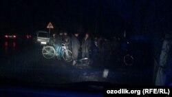 Данное фото было снято источником «Озодлик» 21 декабря в 19 часов в махалле «Саховат» в Маргилане.