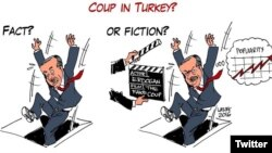 Turkey - ‪Cartoon shared in twitter by #‎DarbeDegilTiyatro‬ - not a coup, theatre