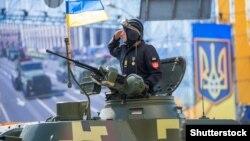 Під час військового параду до Дня Незалежності України. Київ, 24 серпня 2018 року