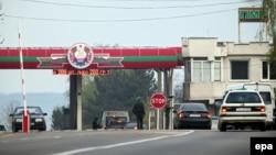 Punctul de trecere în regiunea transnistreană din apropiere de Bender