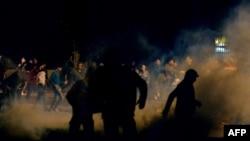 تصویر مربوط به یکی از زد و خوردهای سال ۲۰۱۳ در قاهره است.