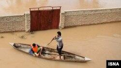 تاکنون بیش از ۲۱۰ روستا و ۶ شهر در استان خوزستان دچار آبگرفتگی و سیل شدهاند. (تصویر از ایسنا)