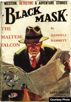 """Первая публикация """"Мальтийского сокола"""". Сентябрь 1929, журнал """"Черная маска"""", цена 20 центов"""