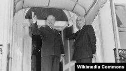 استقبال ترومن، رئیس جمهوری آمریکا از مصدق نخست وزیر ایران در سال ۱۹۵۱