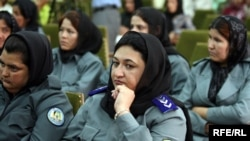 Afghanistan is encouraging a larger presence of policewomen as part of its effort to drastically increase its overall police force.