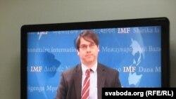 На відэасувязі з Вашынгтону кіраўнік місіі МВФ Крыс Джарвіс