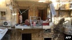 Алепподогу сокку урулган үйлөрдүн бири.