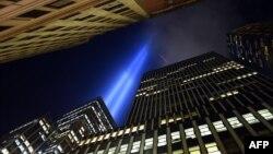 Здания в деловом центре Нью-Йорка.