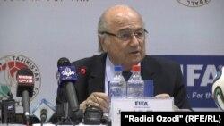 Presidenti i Federatës Botërore të Futbollit (FIFA), Sepp Blatter.