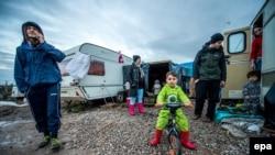 Мигранты в лагере в Кале