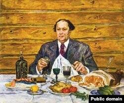 Портрет Алексея Толстого работы Петра Кончаловского