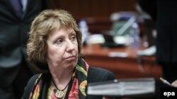 Catherine Ashton la reuniunea miniștrilor de externe UE, luni, de la Bruxelles