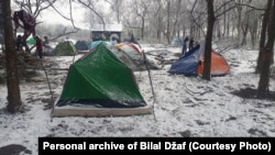 A migrant camp in Sombor (file photo)