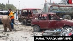 Место, где произошел теракт. Город Кветта (Пакистан), 25 июля 2018 года