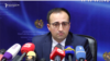 Министр здравоохранения Арсен Торосян во время пресс-конференции, Ереван, 14 января 2020 г.