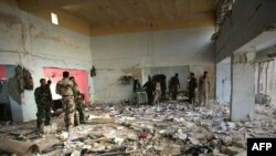 The site of a suicide bombing in the restive city of Baqubah on March 3