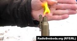 Запальничка у вигляді гранати, зроблена із справжнього патрона