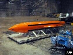 Прототип супербомбы GBU-43 на неизвестном объекте