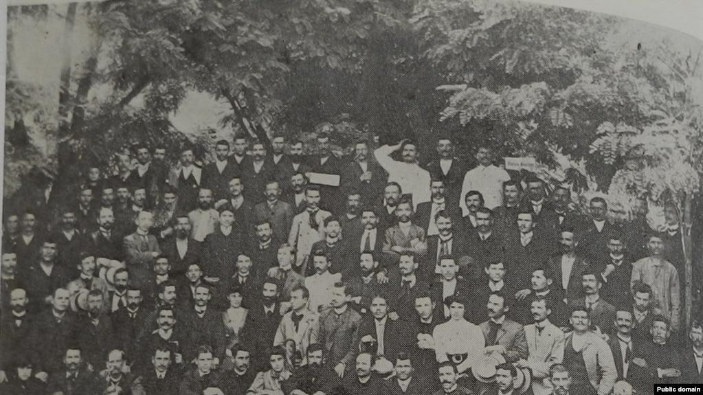 Participanții la conferința sindicatelor și a cercurilor socialiste, Galați, 29 iunie-1 iulie 1906