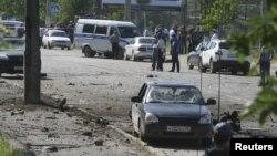 На місці вибухів у Махачкалі, 20 травня 2013 року