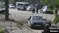 На месте взрыва в Махачкале 20 мая