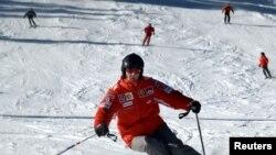 Michael Schumacher gjatë skijimit