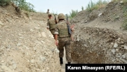 Nagorno-Karabakh -- Armenian soldiers on frontline duty in northeastern Karabakh, 20Jul2012