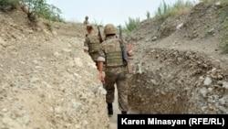 Nagorno-Karabakh -- Armenian soldiers on frontline duty in northeastern Karabakh, 20Jul2012