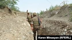 Nagorno-Karabakh -- Soldiers on frontline duty in northeastern Karabakh, 20Jul2012.