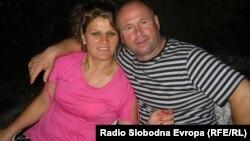 Ѓоре Антевски, печалбар од кумановското село Кокино и неговата сопруга Валбона.