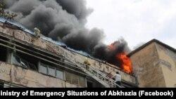Пожар на фабрике (архивное фото)