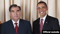Эмомалӣ Раҳмон ва Барак Обама