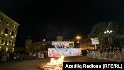 Azərbaycanda Novruz şənliyi, bayram tonqalı, Bakı