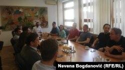 Lideri opozicije na sastanku u Beogradu, 5. avgust 2019.