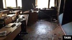 Класс школы №5 в Улан-Удэ после нападения