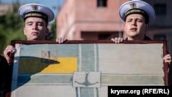 Фоторепортаж: 100 років прапору ВМС України. Святкування на Чорному морі та у Києві