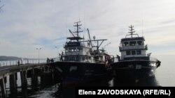 На той неделе три корабля-нарушителя были арестованы в гагрской бухте, их судьба в настоящее время не известна
