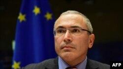 Экс-глава ЮКОСа Михаил Ходорковский в Европейском парламенте. Брюссель, 2 декабря 2014 года.