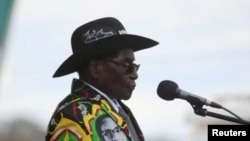 Robert Mugabe earlier this year
