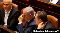 Премьер-министр Израиля Биньямин Нетаньяху перед голосованием о самороспуске Кнессета