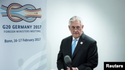 بن، نشست وزرای خارجه گروه بیست؛ رکس تیلرسون، وزیر خارجه آمریکا
