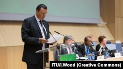 Nizar Zakka speaking at the World Summit on the Information Society (WSIS) Forum 2015.