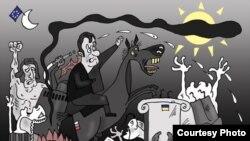 """Валерий Тарасенко прислал рисунок, на котором украинский Майдан напоминает """"Гернику"""" Пикассо"""