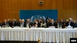Сирияға қатысты конференция. Монтре, Швейцария, 22 қаңтар 2014 жыл.