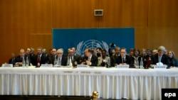 من إفتتاح مؤتمر جنيف 2 في 22/1/2014