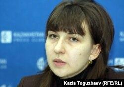 Директор по проектам Республиканской сети независимых наблюдателей Наталья Колпакова. Алматы, 13 января 2012 года.