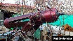 Лопановдан мусодара қилинган қўлбола телескоп.